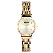 Emporio Armani Ladies' Gold Tone Bracelet Watch - Product number 4424158