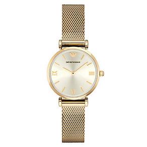 Emporio Armani Ladies' Gold Tone Bracelet Watch - Product number 4424158