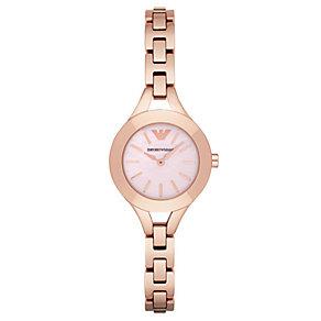 Emporio Armani Ladies' Rose Gold Tone Bracelet Watch - Product number 4424204