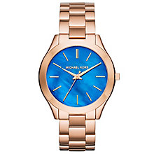 Michael Kors Slim Runway Ladies' Rose Gold Tone Watch - Product number 4424301