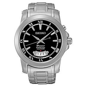 Seiko Premier Men's Perpetual Stainless Steel Bracelet Watch - Product number 4424328