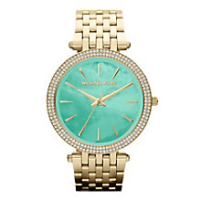 Michael Kors Darci Gold Tone Stone Set Bracelet Watch - Product number 4424336