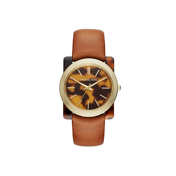 Michael Kors Ladies' Tortoise acetate Strap Watch - Product number 4424409