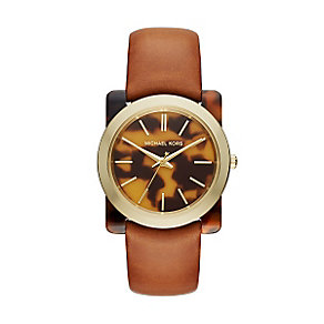 Michael Kors Ladies' Tortoiseshell Strap Watch - Product number 4424409