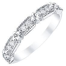 Ladies' 9ct White Gold 0.12 Carat Diamond Set Band - Product number 4424433