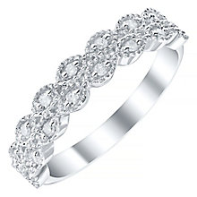9ct White Gold 0.10 Carat Diamond Set Band - Product number 4424751