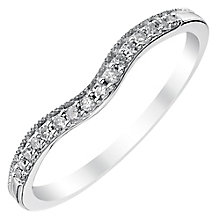 Ladies' 18ct White Gold 1/10 Carat Diamond Set Shaped Band - Product number 4429974