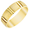 Men's 9ct Gold Patterned Vertical Striped Band - Product number 4433092