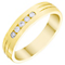 Men's 9ct Gold 0.15 Carat Diamond Channel Set Band - Product number 4435540