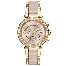 Michael Kors Parker Ladies' Gold Tone Bracelet Watch - Product number 4435982