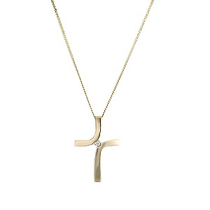 Gold Diamond Cross Pendant - Product number 4436326