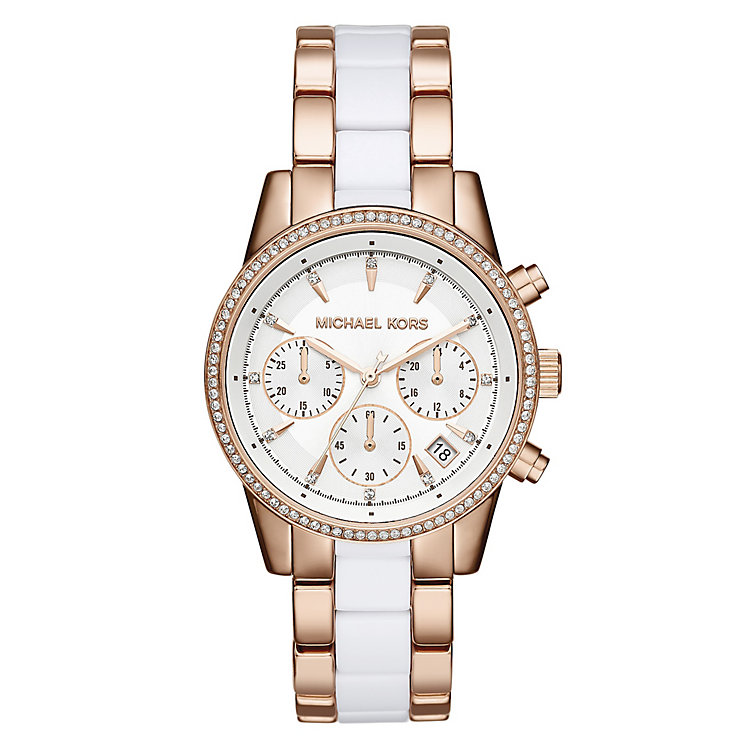 Michael Kors Ritz Two Colour Stone Set Bracelet Watch - Product number 4436563