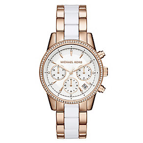 Michael Kors Ritz Two Colour Stone Set Bracelet Watch - Product number 4436563