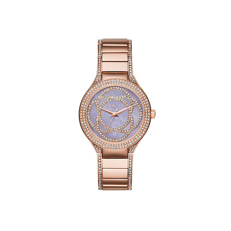 Michael Kors Kerry Ladies' Rose Gold Tone Bracelet Watch - Product number 4437160