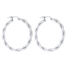 Sterling Silver Large Twist Creole Earrings - Product number 4437187