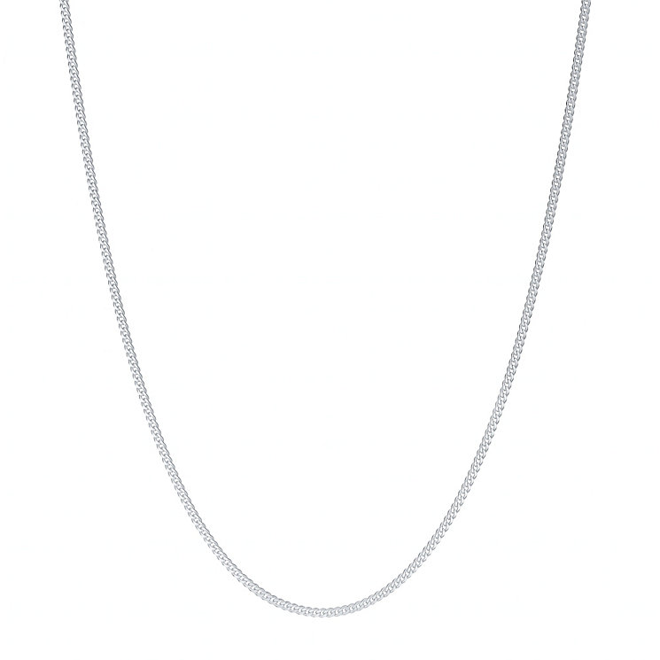 "Sterling Silver 24"" 50 Gauge Curb Necklace - Product number 4437209"