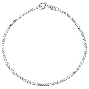 "Sterling Silver 50 Gauge 7.5"" Curb Bracelet - Product number 4437241"