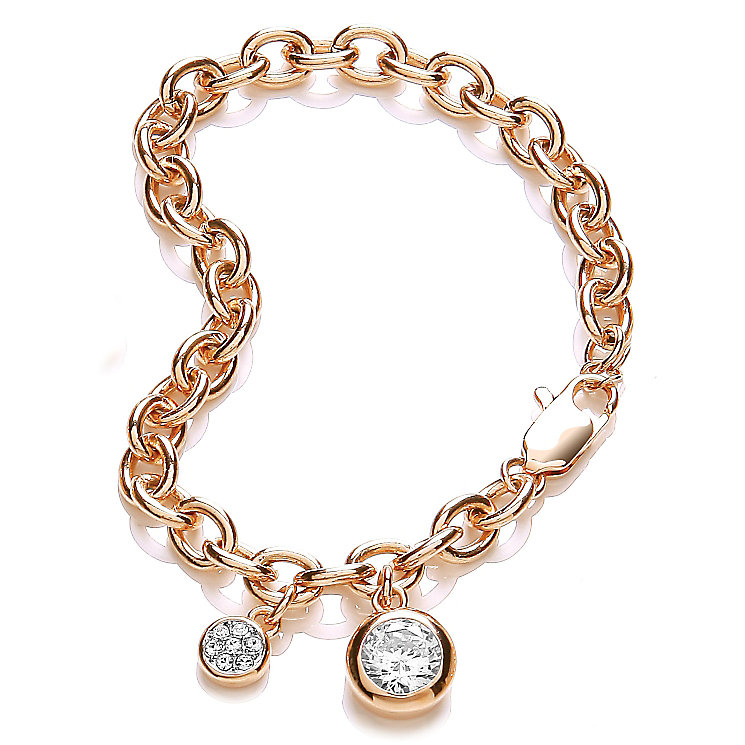Buckley London Gold-Plated Stone Set Round Charm Bracelet - Product number 4437527