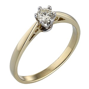 18ct Gold Quarter Carat Diamond Solitaire Ring - Product number