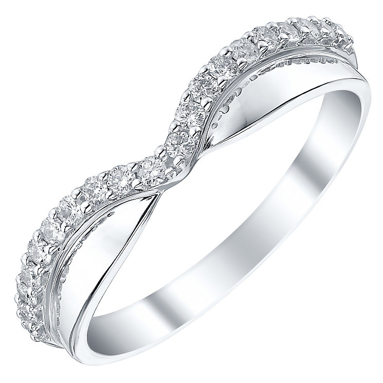 Ladies' 18ct White Gold 1/5 Carat Diamond Set Band - Product number 4448804