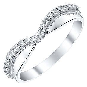Ladies' 18ct White Gold 1/5 Carat Diamond Set Band - Product number 4448804