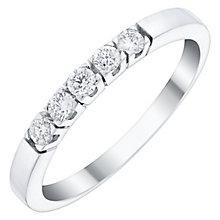 Ladies' 18ct White Gold 1/5 Carat Diamond Set Straight Band - Product number 4449282