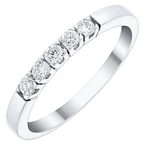 Ladies' 18ct White Gold 1/5 Carat Diamond Set Straight Band - Product number 4449282