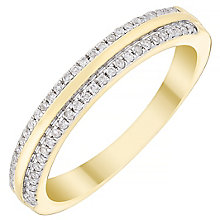 Ladies' 9ct Gold 0.14ct Diamond Edge Band - Product number 4449584