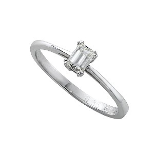 18ct white gold third carat diamond solitaire ring - Product number 4451503