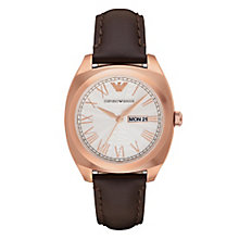 Emporio Armani Men's Rose Gold tone Strap Watch - Product number 4454340