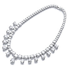 Buckley Sterling Silver Multi Stone Set Collar Necklace - Product number 4457390