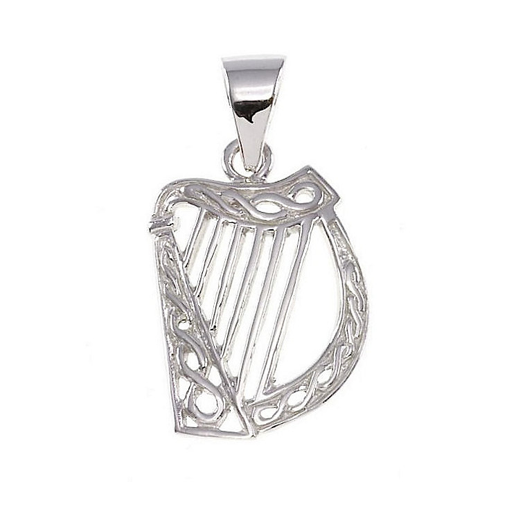 Cailin Sterling Silver Harp Pendant - Product number 4457420