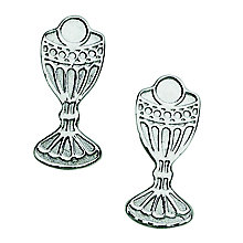 Cailin Sterling Silver Chalice Stud Earrings - Product number 4457471