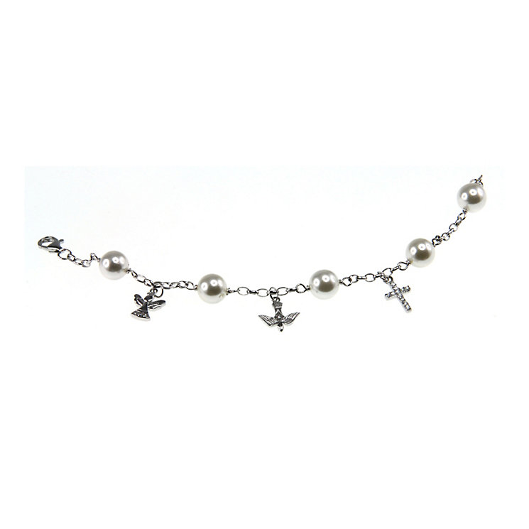 Cailin Sterling Silver Confirmation Charm Bracelet - Product number 4458729