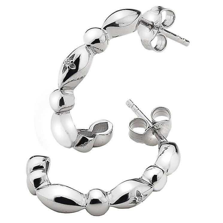 Hot Diamonds Sterling Silver Fancy Half Hoop Earrings - Product number 4459628