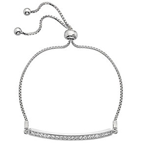 Hot Diamonds Sterling Silver Cubic Zirconia Bolo Bracelet - Product number 4459695