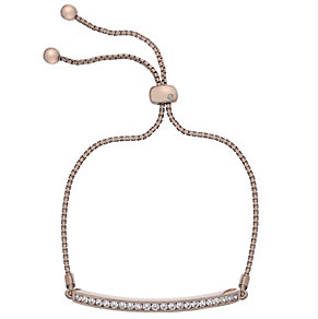 Hot Diamonds Rose Gold-Plated Cubic Zirconia Bolo Bracelet - Product number 4459784