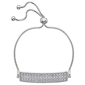 Hot Diamonds Sterling Silver Cubic Zirconia Bolo Bracelet - Product number 4459792