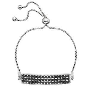 Hot Diamonds Silver 3 Row Black Cubic Zirconia Bolo Bracelet - Product number 4459881