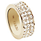 Guess Gold-Plated 3 Row Pave Stone Set Ring Size 54 - Product number 4460111