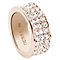 Guess Rose Gold-Plated 3 Row Pave Stone Set Ring Size 54 - Product number 4460138