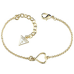 Guess Gold-Plated Heart & Logo Bracelet - Product number 4460197