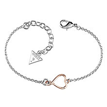 Guess Rose Gold-Plated Heart & Logo Bracelet - Product number 4460200