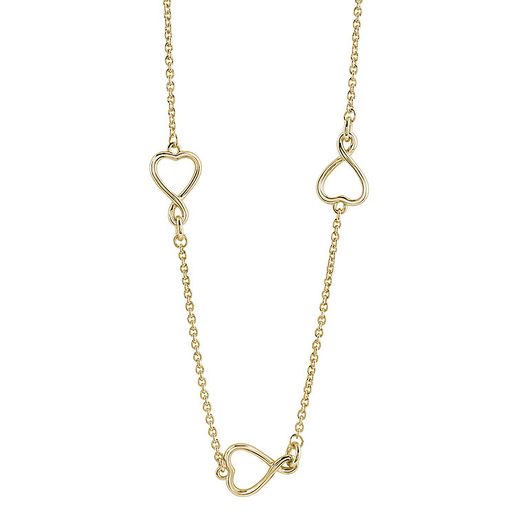 Guess Gold-Plated Triple Heart Necklace - Product number 4460219