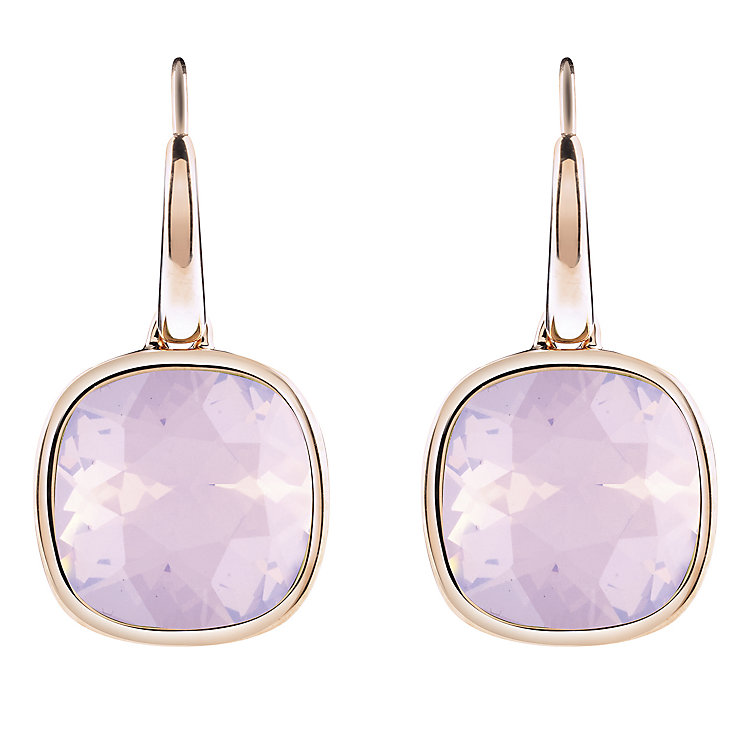 Guess Rose Gold-Plated Lever Back Cushion Stud Earrings - Product number 4460332