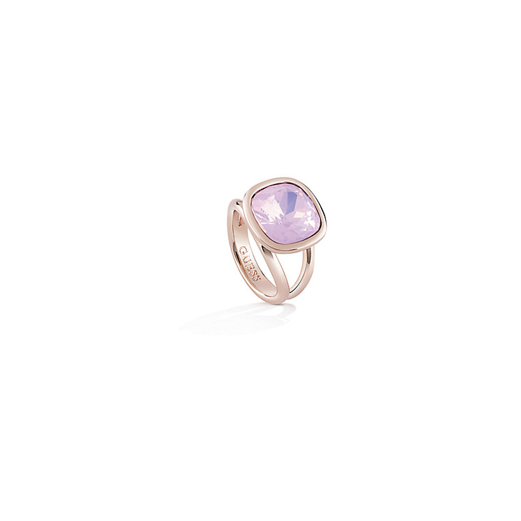 Guess Rose Gold-Plated Cushion Ring - Product number 4460510