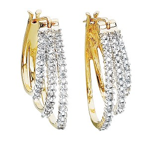 Gold Diamond Earrings - Product number 4460642