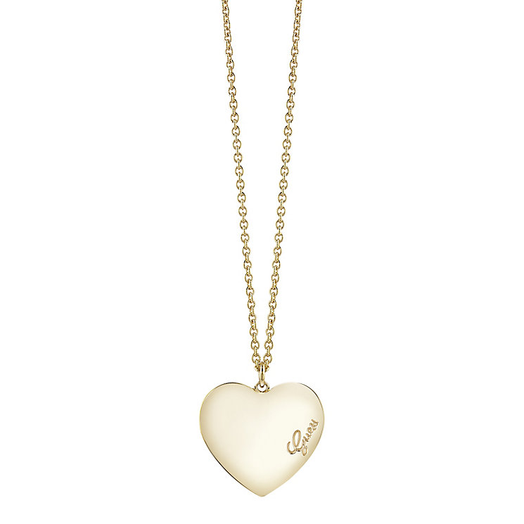 "Guess Gold-Plated Heart Pendant 18""-20"" - Product number 4460804"