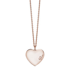 """Guess Rose Gold-Plated Heart Pendant 18""""-20"""" - Product number 4460812"""