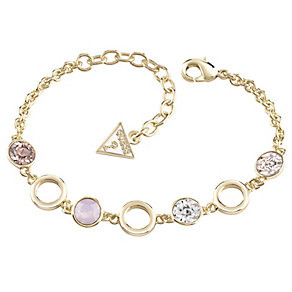 Guess Gold-Plated 4 Stone Adjustable Bracelet - Product number 4460820